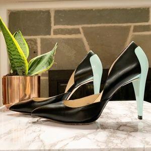 ZARA | Combined High Heel Court Shoe Mint Heel 37